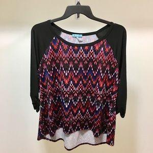 Tops - Women's Scoop Neck 3/4 Sleeve Blouse Plus Size 2X